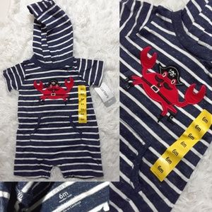 Carter's Pirate Crab Baby One-Piece-Size 6 Mos